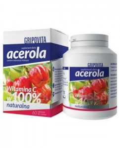 Acerola Gripovita - wit C - 60 tabletek do ssania