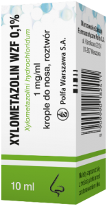 Xylometazolin 0.1% krople do nosa - 10 ml WZF
